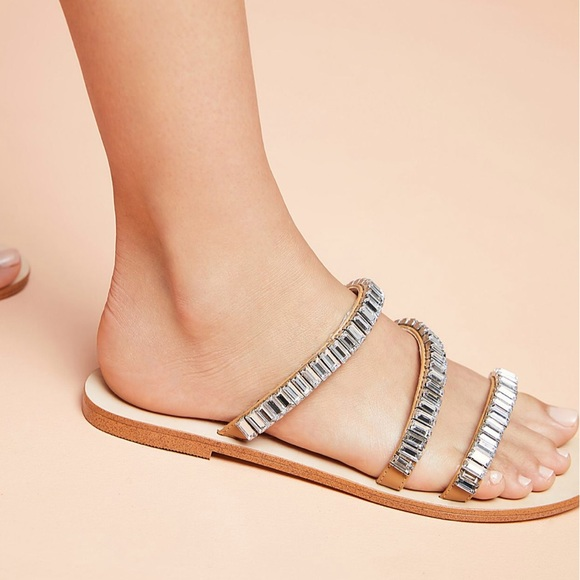 51b3e77ab262 Anthropologie Shoes - Anthropologie Sparkling Slide Sandals